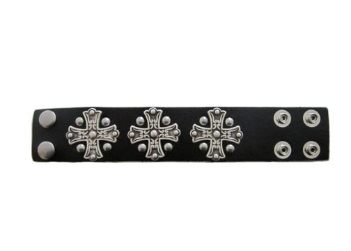 CROSS LEATHER BRACELET IN BRACELETS - COMPARE PRICES, READ REVIEWS
